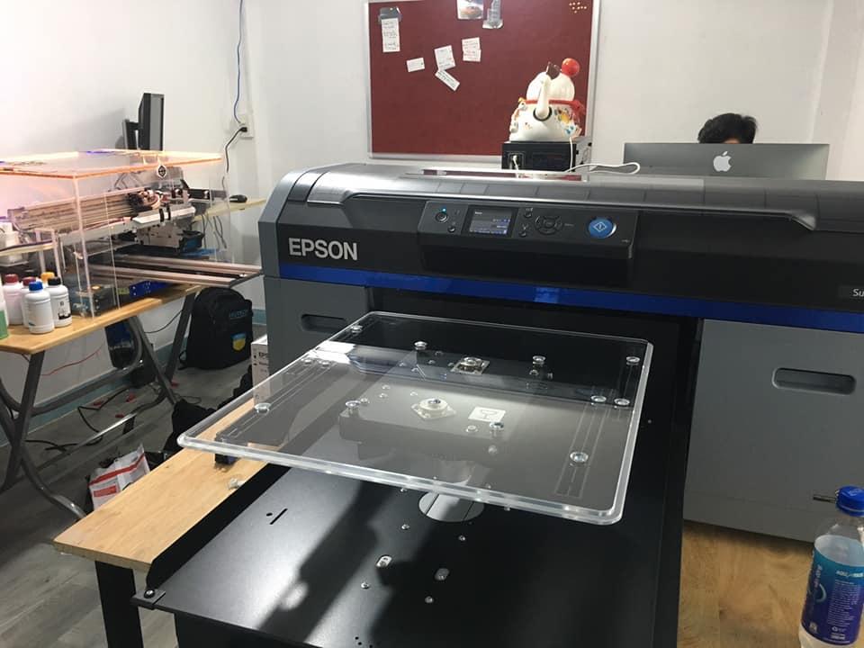 Máy in áo thun epson F2130 công ty thời trang áo thun